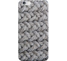 Hip grey sweater texture chunky knit iPhone Case/Skin