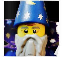 Lego Wizard minifigure Poster