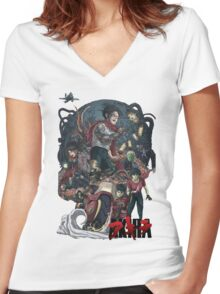 akira n°2 by remi42 Women's Fitted V-Neck T-Shirt