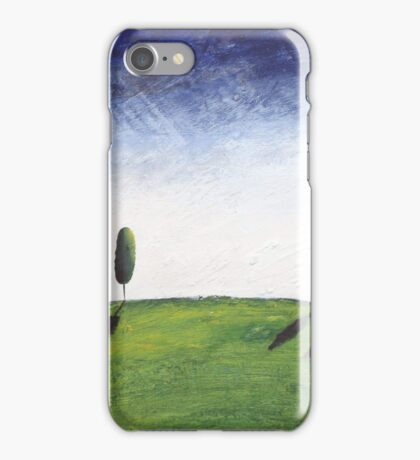 landscape oil painting abstract acrylic original texture impasto  iPhone Case/Skin