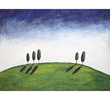 landscape oil painting abstract acrylic original texture impasto  Photographic Print