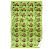 Just Be Yourself Cute Turtle Pattern Poster