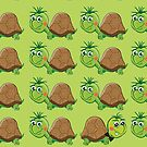 Just Be Yourself Cute Turtle Pattern by Silvia Neto