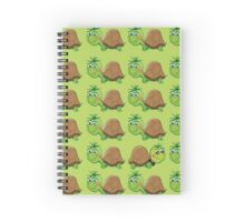 Just Be Yourself Cute Turtle Pattern Spiral Notebook