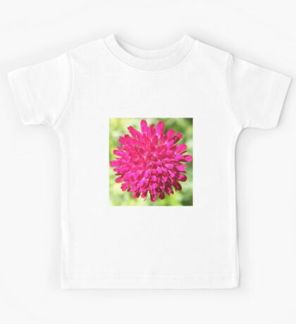 Pink flower, exploding like a firework into bloom Kids Tee