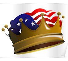 Royal USA Crown Poster