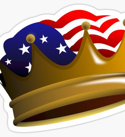 Royal USA Crown Sticker