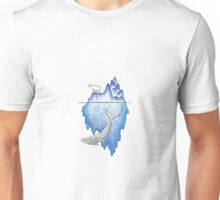 Iceberg with Polar Bear & Whale Unisex T-Shirt