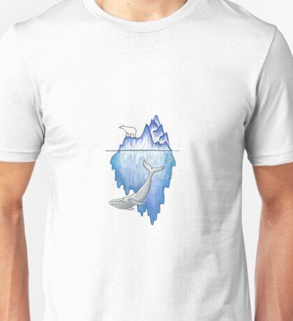 Iceberg with Polar Bear & Whale Unisex T-Shirt