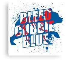 Bleed Cubbie Blue Canvas Print