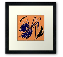 Winged Feather Framed Print