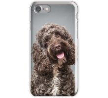 Brown cockapoo iPhone Case/Skin