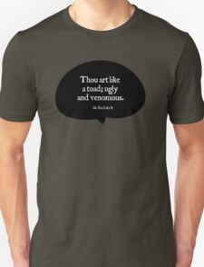 Shakespeare Insults - Thou Art Like a Toad T-Shirt