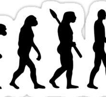 Evolution mailman Sticker