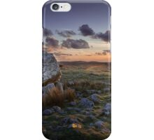 Arthur's stone at sunset iPhone Case/Skin