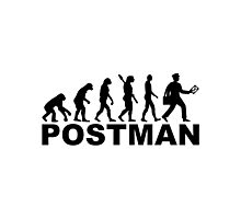 Evolution postman Photographic Print