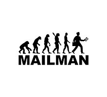 Evolution mailman Photographic Print