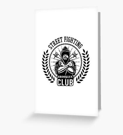Street fight emblem Brooklyn Club black Greeting Card