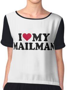 I love my mailman Chiffon Top