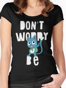 Fairy tail - Don't worry, be happy Women's Fitted Scoop T-Shirt
