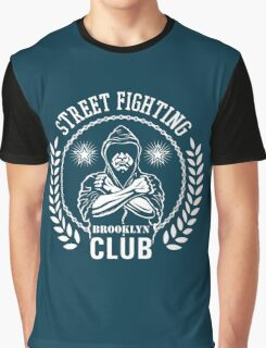 Street fight emblem Brooklyn Club white Graphic T-Shirt