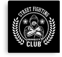Street fight emblem Brooklyn Club white Canvas Print