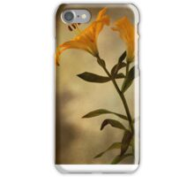 Yellow Lily on stem iPhone Case/Skin