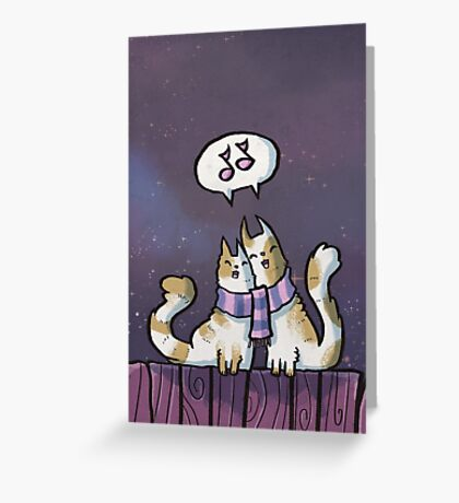 Cats Singing Greeting Card