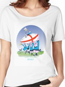 Italian Rugby 3 cheers, tony fernandes Women's Relaxed Fit T-Shirt