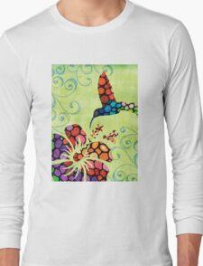 Nature's Harmony 2 - Hummingbird Art By Sharon Cummings Long Sleeve T-Shirt