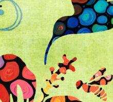 Nature's Harmony 2 - Hummingbird Art By Sharon Cummings Sticker