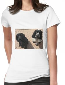 Olly & Bella posing Womens Fitted T-Shirt