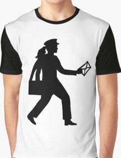 Female mailman Graphic T-Shirt