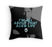 All About That Alien Life Throw Pillow