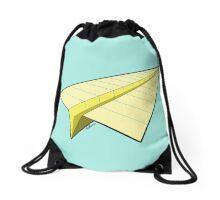 Paper Airplane 10 Drawstring Bag