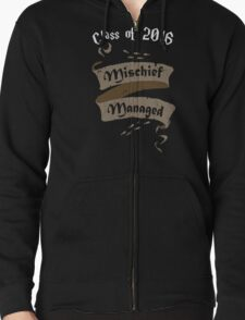 Class of 2016 Mischief Managed Zipped Hoodie