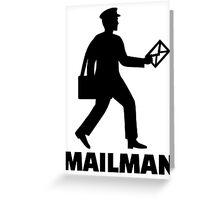 Mailman Greeting Card