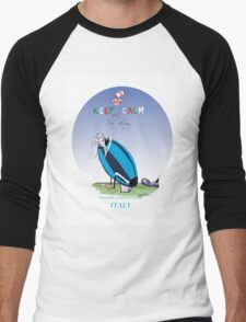 Italian Rugby - putting the boot in, tony fernandes Men's Baseball ¾ T-Shirt