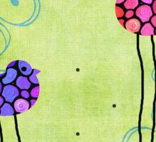 Three Birds - Spring Art - Bird Art By Sharon Cummings Sticker