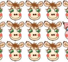 Cute Cows and Pig Pattern Sticker