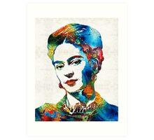 Frida Kahlo Art - Viva La Frida - By Sharon Cummings Art Print