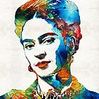 Frida Kahlo Art - Viva La Frida - By Sharon Cummings by Sharon Cummings