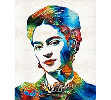 Frida Kahlo Art - Viva La Frida - By Sharon Cummings Photographic Print