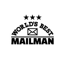 World's best mailman Photographic Print
