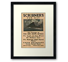 Artist Posters Scribner's for May The voyage of the dry dock dewey 0906 Framed Print