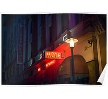 Neon Hotel Sign Poster
