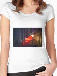 Neon Hotel Sign Women's Fitted Scoop T-Shirt