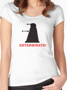 Exterminate - Doctor Who Women's Fitted Scoop T-Shirt