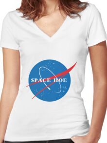 Space!! Women's Fitted V-Neck T-Shirt