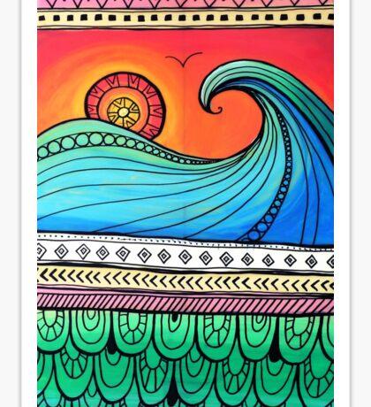 Sayulita Sunrise Surf Sessions Sticker